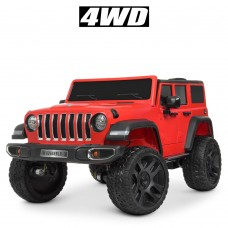 Детский электромобиль Джип Bambi M 4264 EBLR-3 Hummer, двухместный, красный