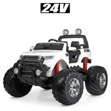 Детский электромобиль Джип Bambi M 4273 EL-1 (24V) Ford Ranger (Monster Truck), белый