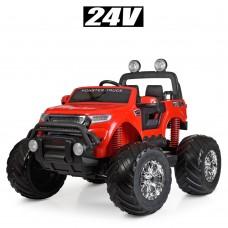 Детский электромобиль Джип Bambi M 4273 EL-3 (24V) Ford Ranger (Monster Truck), красный