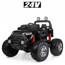 Детский электромобиль Джип Bambi M 4273 ELS-2 (24V) Ford Ranger (Monster Truck), черный
