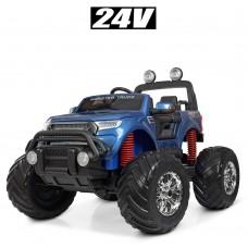 Детский электромобиль Джип Bambi M 4273 ELS-4 (24V) Ford Ranger (Monster Truck), синий