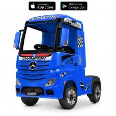 Детский электромобиль Грузовик Bambi M 4208 EBLR-4 Mercedes Actros, синий