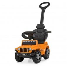 Детский электромобиль каталка толокар Bambi M 4247 EL-7 Jeep, оранжевый