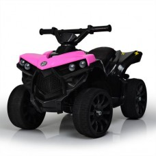 Детский квадроцикл Bambi M 3638 EL-8, черно-розовый
