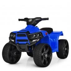Квадроцикл M 3893EL-4 1мотор20W, 1аккум 6V4, 5A, муз, свет, кож.сиденье, колесаEVA, синий