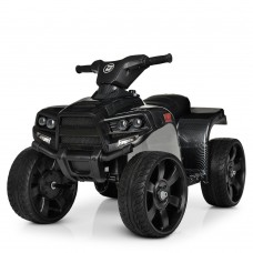 Квадроцикл M 3893ELM-19 1мотор20W, 1аккум 6V4, 5A, муз, свет, кож.сиденье, колесаEVA, карбон