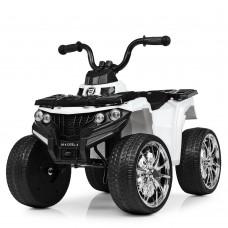 Детский квадроцикл Bambi M 4137 EL-1, белый
