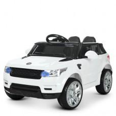 Детский электромобиль Джип Bambi M 3402 EBLR-1 Land Rover, белый