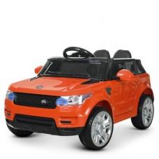 Детский электромобиль Джип Bambi M 3402 EBLR-7 Land Rover, оранжевый