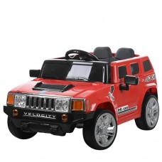Детский электромобиль Джип Bambi M 3403 EBLR-3 Hummer, красный