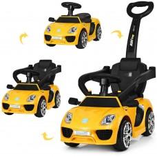 Детский электромобиль каталка толокар Bambi M3592 L-6 Porsche, желтый