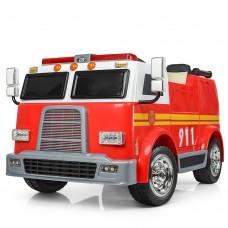 Детский электромобиль Bambi M 3827 EBLR-3 Пожарная, двухместный, красный
