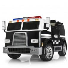 Детский электромобиль Bambi M 3828 EBLR-2 Пожарная, двухместный, черный