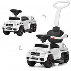 Детский электромобиль каталка-толокар Bambi M 3853 EL-1 Mercedes, белый