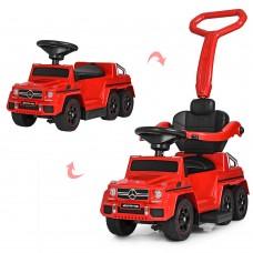 Детский электромобиль каталка-толокар Bambi M 3853 EL-3 Mercedes, красный