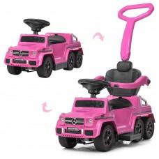 Детский электромобиль каталка-толокар Bambi M 3853 EL-8 Mercedes, розовый