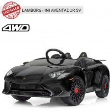 Детский электромобиль Bambi M 3903 EBLR-2 Lamborghini Aventador SV, черный