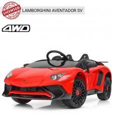 Детский электромобиль Bambi M 3903 EBLR-3 Lamborghini Aventador SV, красный