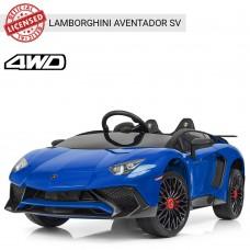 Детский электромобиль Bambi M 3903 EBLR-4 Lamborghini Aventador SV, синий