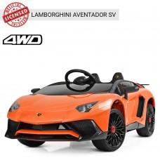 Детский электромобиль Bambi M 3903 EBLR-7 Lamborghini Aventador SV, оранжевый