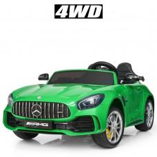 Детский электромобиль Bambi M 3905 EBLR-5 Mercedes AMG GT R, двухместный, зеленый