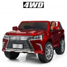 Детский электромобиль Джип Bambi M 3906 EBLRS-3 Lexus LX 570, двухместный, красный