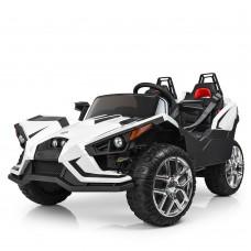 Детский электромобиль Джип Bambi M 3907 EBLR-1 Polaris Slingshot, двухместный, черно-белый
