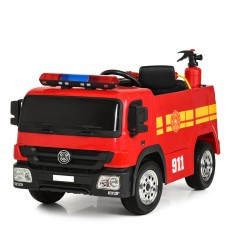 Детский электромобиль Bambi M 4051 EBR(2)-3 Пожарная машина, красный