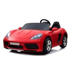 Детский электромобиль Bambi M 4055 ALS-3 Porsche, двухместный, красный