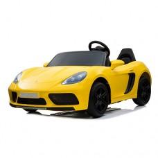 Детский электромобиль Bambi M 4055 ALS-6 Porsche, двухместный, желтый