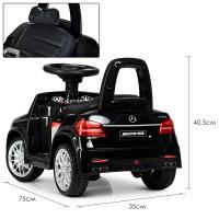 Детский электромобиль каталка толокар Bambi M 4065 EBLR-2 Mercedes, черный