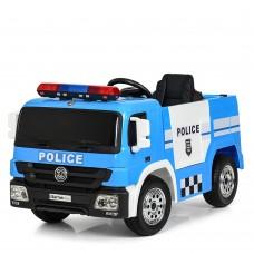 Детский электромобиль Bambi M 4076 EBLR-4 Полицейская машина, синий