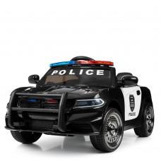 Детский электромобиль Bambi M 4108 EBLR-2 Полицейская машина, черный