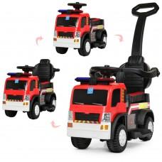 Детский электромобиль каталка толокар Bambi M 4166 L-3 Пожарная машина, красный