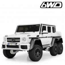 Детский электромобиль Джип Bambi M 4211 6WD EBLR-1 Mercedes, белый
