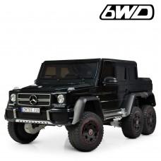 Детский электромобиль Джип Bambi M 4211 6WD EBLR-2 Mercedes, черный