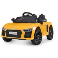 Детский электромобиль Bambi M 4281 EBLR-6 Audi R8 Spyder, желтый