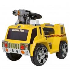 Детский электромобиль Bambi ZPV119 AR-6 Пожарная машина, желтый