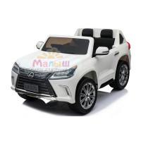 Детский электромобиль Джип Bambi M 3906 (MP4) EBLR-1 Lexus LX 570, белый