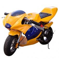 Детский мотоцикл PROFI HB-PSB 01-E-6 BMW, желтый
