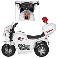 Детский мотоцикл Bambi M 3576-1 Police, белый