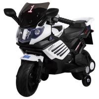 Детский мотоцикл Bambi M 3582 E-1, черно-белый