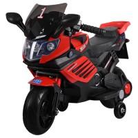 Детский мотоцикл Bambi M 3582 E-3, черно-красный