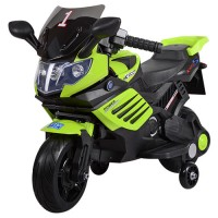 Детский мотоцикл Bambi M 3582 E-5, черно-зеленый