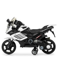 Детский мотоцикл Bambi M 3582 EL-1, черно-белый