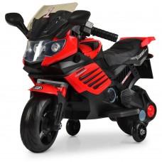 Детский мотоцикл Bambi M 3582 EL-3, черно-красный