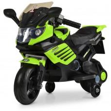 Детский мотоцикл Bambi M 3582 EL-5, черно-зеленый