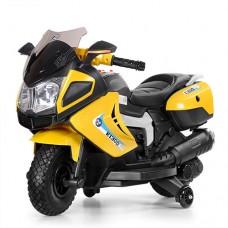 Детский мотоцикл Bambi M 3625 EL-6 BMW, желтый