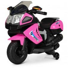 Детский мотоцикл Bambi M 3625 EL-8 BMW, розовый