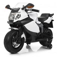 Детский мотоцикл Bambi M 3636 EL-1 BMW, белый
